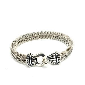 Joseph Esposito Double Cable Mesh Bangle Bracelet